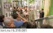 Inlet of the Visa Section of the German Embassy in Ankara (2002 год). Редакционное фото, агентство Caro Photoagency / Фотобанк Лори