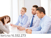 Купить «businesswoman getting fired in office», фото № 6332273, снято 5 апреля 2014 г. (c) Syda Productions / Фотобанк Лори
