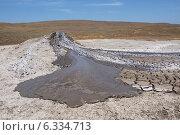 Действующий грязевой вулкан (2014 год). Стоковое фото, фотограф Лысенко Владимир / Фотобанк Лори
