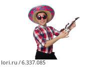 Купить «Funny mexican with sombrero in concept», фото № 6337085, снято 22 февраля 2014 г. (c) Elnur / Фотобанк Лори