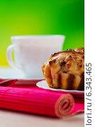 Купить «Small muffins on plate», фото № 6343465, снято 10 ноября 2011 г. (c) BestPhotoStudio / Фотобанк Лори