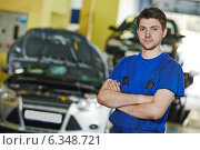 Repairman auto mechanic at work. Стоковое фото, фотограф Дмитрий Калиновский / Фотобанк Лори