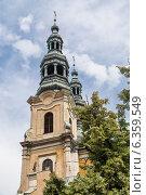 Купить «Колокольня церкви францисканцев. Польша», фото № 6359549, снято 4 августа 2014 г. (c) Андрей Андронов / Фотобанк Лори