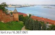 Купить «Осенний Нижегородский Кремль», фото № 6367061, снято 6 сентября 2014 г. (c) Елена Ковалева / Фотобанк Лори