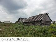 Купить «Старенькая избушка в зарослях», фото № 6367233, снято 6 сентября 2014 г. (c) Наталья Осипова / Фотобанк Лори