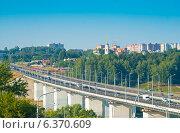 Купить «Город Калуга. Гагаринский мост», фото № 6370609, снято 6 августа 2014 г. (c) Зобков Георгий / Фотобанк Лори