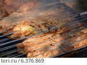 Приготовление кебаба на углях. Стоковое фото, фотограф Сергей Гойшик / Фотобанк Лори