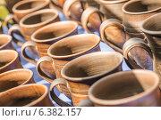Купить «traditional clay pots of manual work», фото № 6382157, снято 19 июля 2014 г. (c) BestPhotoStudio / Фотобанк Лори