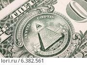 Купить «Детали купюры в один американский доллар», фото № 6382561, снято 10 сентября 2014 г. (c) Момотюк Сергей / Фотобанк Лори
