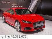 Купить «Audi TTS. Международный автосалон в Москве», фото № 6388673, снято 3 сентября 2014 г. (c) Павел Лиховицкий / Фотобанк Лори