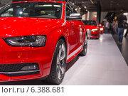 Купить «Красный автомобиль Audi», фото № 6388681, снято 3 сентября 2014 г. (c) Павел Лиховицкий / Фотобанк Лори