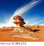 Купить «Bizarre sandstone cliff in Sahara Desert, Algeria», фото № 6389213, снято 21 августа 2018 г. (c) Ingram Publishing / Фотобанк Лори