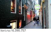 Купить «Район Красных Фонарей в Амстердаме», видеоролик № 6390757, снято 10 сентября 2014 г. (c) FMRU / Фотобанк Лори
