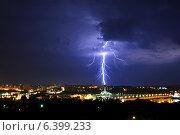 Купить «Гроза», фото № 6399233, снято 8 августа 2014 г. (c) Шумилов Владимир / Фотобанк Лори