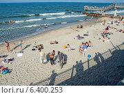 Купить «Пляж. Светлогорск, Калининградская область», эксклюзивное фото № 6400253, снято 14 сентября 2014 г. (c) Svet / Фотобанк Лори