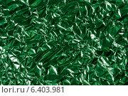 Зеленая металлическая фольга. Стоковое фото, фотограф Андрей Семин / Фотобанк Лори
