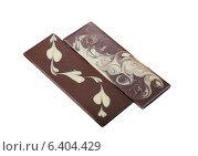 Две плитки шоколада с узорами. Стоковое фото, фотограф Гурьянов Андрей / Фотобанк Лори