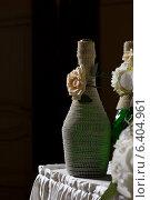 Свадебная бутылка. Стоковое фото, фотограф Наталья Слюсаренко / Фотобанк Лори