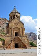Купить «Армения, монастырь Нораванк, церковь Сурб Аствацацин», фото № 6406937, снято 7 сентября 2014 г. (c) Овчинникова Ирина / Фотобанк Лори