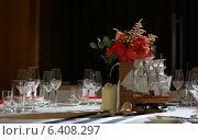 Оформление стола в морском стиле. Стоковое фото, фотограф Наталья Слюсаренко / Фотобанк Лори