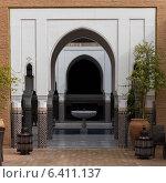 Archway of a hotel, Riad Sidi Mimoune, Marrakesh, Morocco (2012 год). Стоковое фото, агентство Ingram Publishing / Фотобанк Лори