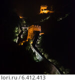 Купить «Juyongguan pass section of the Great Wall of China at night, Changping District, Beijing, China», фото № 6412413, снято 25 августа 2012 г. (c) Ingram Publishing / Фотобанк Лори