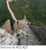 Купить «Jinshanling section of Great Wall Of China, Beijing, China», фото № 6412421, снято 26 августа 2012 г. (c) Ingram Publishing / Фотобанк Лори