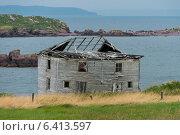 Купить «Abandoned house at Plate Cove East, Bonavista Peninsula, Newfoundland And Labrador, Canada», фото № 6413597, снято 23 августа 2013 г. (c) Ingram Publishing / Фотобанк Лори