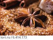 Анис и коричневый сахар крупным планом. Стоковое фото, фотограф Natasha Breen / Фотобанк Лори
