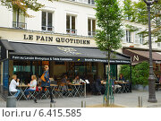Купить «Bakery Le Pain Quotidien in Paris, France», фото № 6415585, снято 12 сентября 2013 г. (c) Stockphoto / Фотобанк Лори