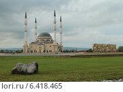 Купить «Мечеть на фоне грозового неба», фото № 6418465, снято 26 мая 2013 г. (c) Jon Maldini / Фотобанк Лори