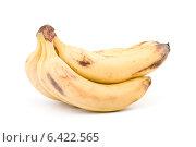 Купить «Связка спелых бананов, изолированная на белом фоне», фото № 6422565, снято 13 февраля 2010 г. (c) web2000ra / Фотобанк Лори