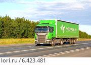 Купить «Грузовик Scania G400», фото № 6423481, снято 19 июля 2014 г. (c) Art Konovalov / Фотобанк Лори