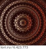 Купить «Золотой орнамент Мандала», иллюстрация № 6423773 (c) Katya Ulitina / Фотобанк Лори