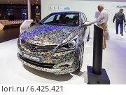 Купить «Hyundai Solaris. Московский международный автомобильный салон 2014», эксклюзивное фото № 6425421, снято 29 августа 2014 г. (c) Сергей Лаврентьев / Фотобанк Лори