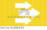 Купить «Arrows pointing across grid background», видеоролик № 6434013, снято 20 июля 2019 г. (c) Wavebreak Media / Фотобанк Лори
