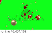 Купить «Christmas presents moving on green background», видеоролик № 6434169, снято 31 мая 2020 г. (c) Wavebreak Media / Фотобанк Лори