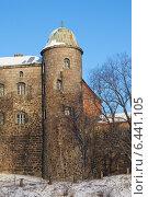 Башня выборгского замка зимой (2014 год). Редакционное фото, фотограф Марина Разгулина / Фотобанк Лори