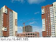 Купить «Современное строительство», эксклюзивное фото № 6441185, снято 22 сентября 2014 г. (c) Svet / Фотобанк Лори