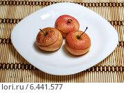 Печеные яблочки с медом. Стоковое фото, фотограф Александр Самолетов / Фотобанк Лори