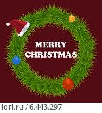 Рождественская открытка. Стоковая иллюстрация, иллюстратор VahanN / Фотобанк Лори