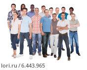 Купить «Lineup of business executives or partners», фото № 6443965, снято 12 августа 2012 г. (c) Андрей Попов / Фотобанк Лори