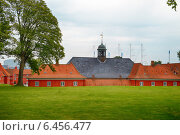 Купить «The back side of the church in Kastellet, Copenhagen.», фото № 6456477, снято 22 августа 2014 г. (c) Serg Zastavkin / Фотобанк Лори