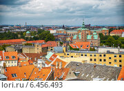 Купить «The view from the Round Tower in Copenhagen.», фото № 6456493, снято 22 августа 2014 г. (c) Serg Zastavkin / Фотобанк Лори