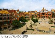 Купить «Hospital de la Santa Creu i Sant Pau in Barcelona», фото № 6460209, снято 13 сентября 2014 г. (c) Яков Филимонов / Фотобанк Лори