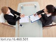 Купить «Businesswoman Conducting Interview», фото № 6460501, снято 11 января 2014 г. (c) Андрей Попов / Фотобанк Лори