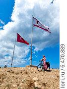 Флаги Турции и Северного Кипра (2014 год). Стоковое фото, фотограф Катерина Вахе / Фотобанк Лори