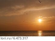 Закат над морем. Стоковое фото, фотограф Трофимова Мария / Фотобанк Лори