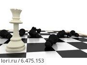 Купить «White queen standing with fallen black pawns», фото № 6475153, снято 20 мая 2019 г. (c) Wavebreak Media / Фотобанк Лори