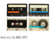Набор старых кассет. Стоковое фото, фотограф Metzlof / Фотобанк Лори